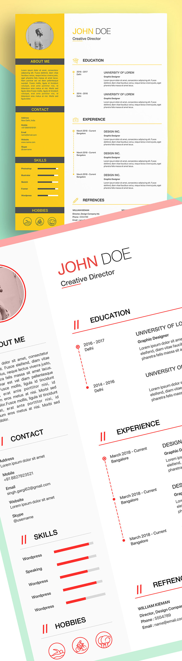 25 Fresh Free Professional Resume Templates - 6