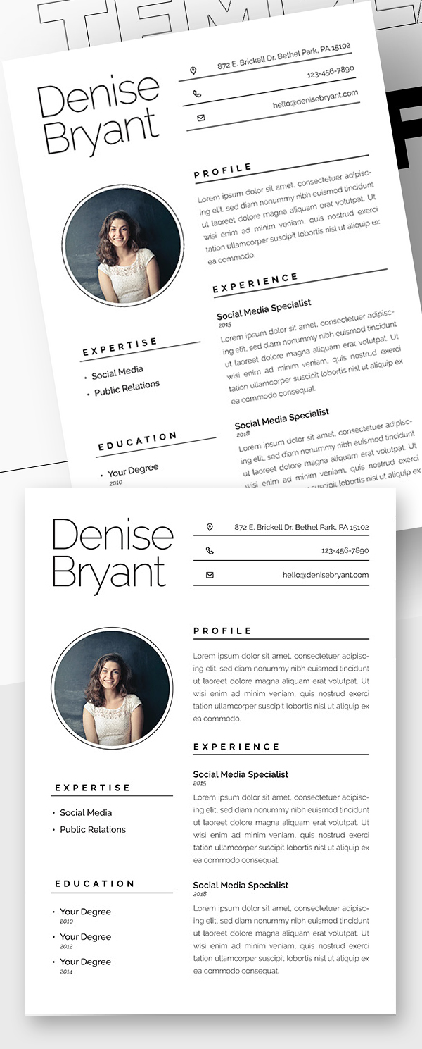 25 Fresh Free Professional Resume Templates - 7