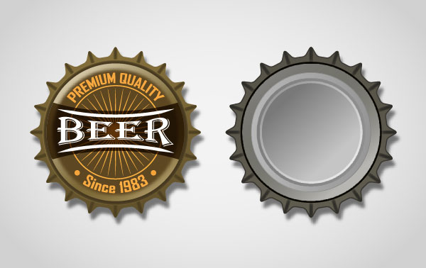 How to Create Both Sides Of A Metal Bottle Cap Tutorial