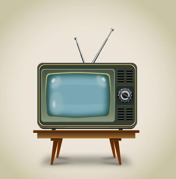 Create a Vintage Television In Adobe Illustrator Tutorial
