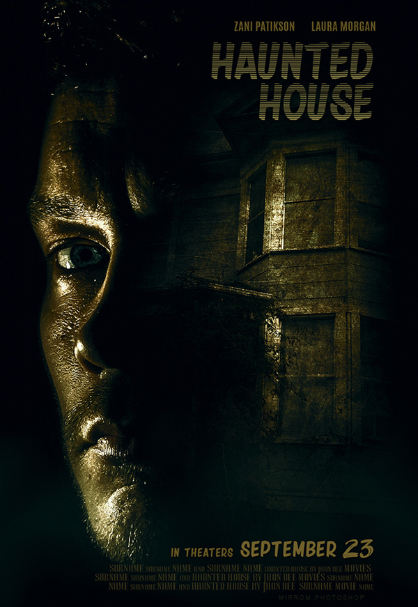 How to Create a Haunted House Movie Poster Design in Photoshop CC