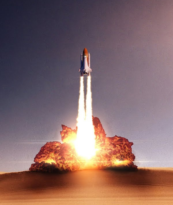 How to Create INCREDIBLE Fried Chicken Rocket Launch Effect Photoshop CC Tutorial