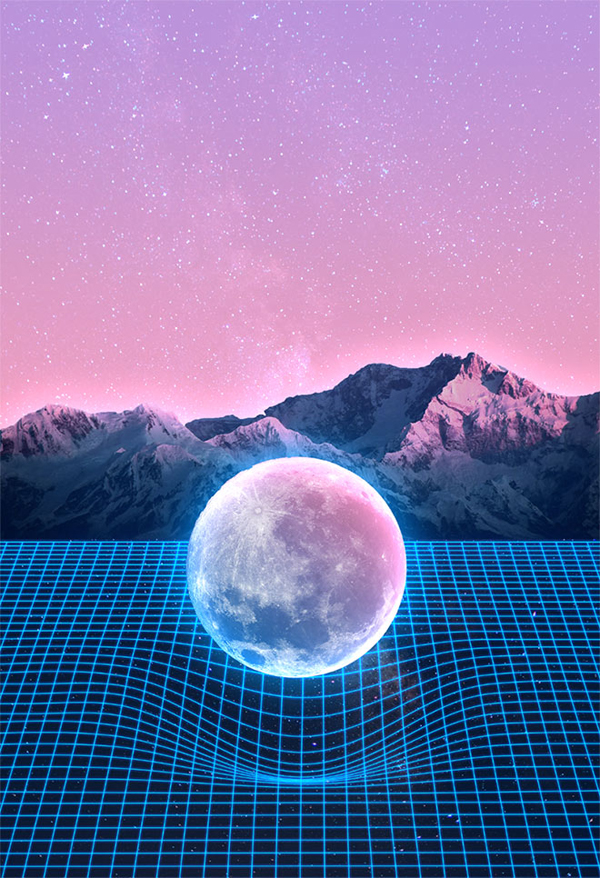How To Create 80s Style Retrowave Art in Adobe Photoshop