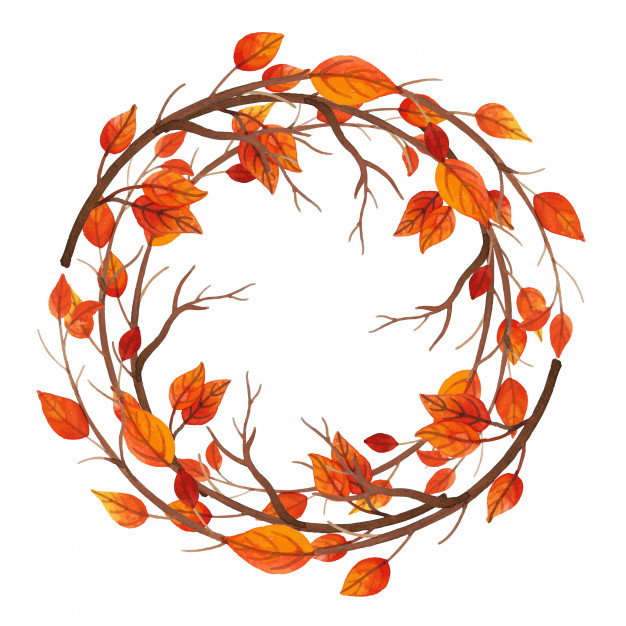 fall design watercolor