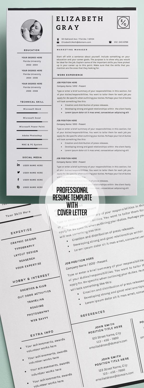 Professional Resume/CV Modern