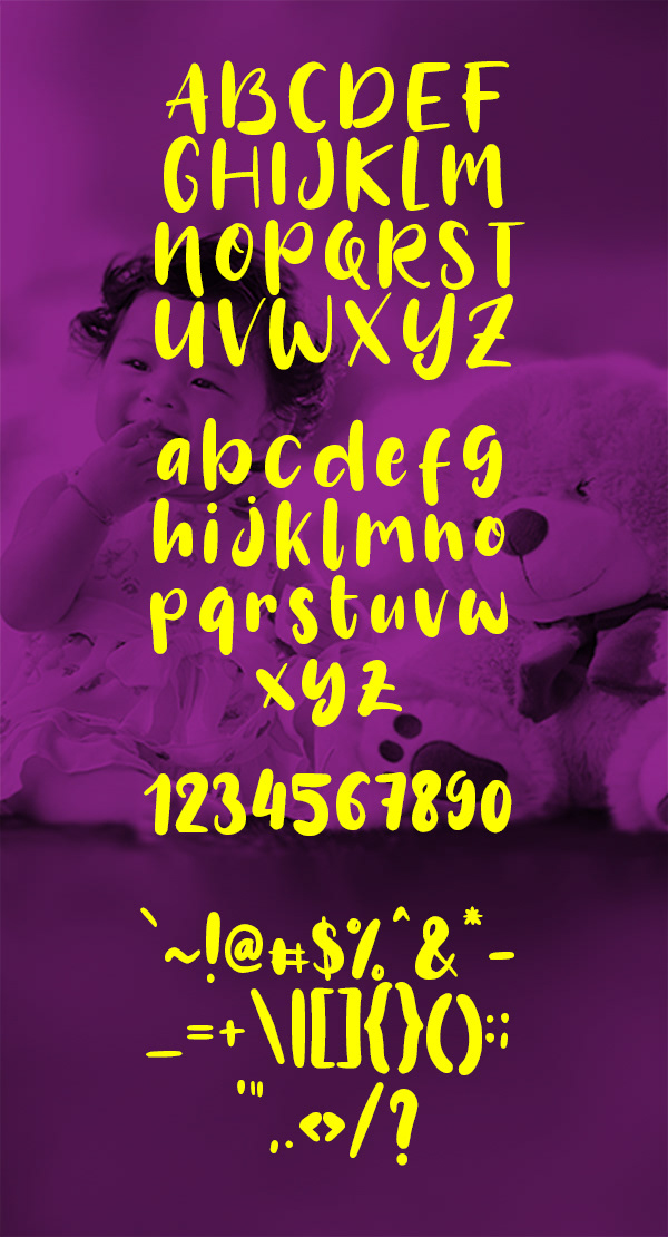 Crafto Font Letters