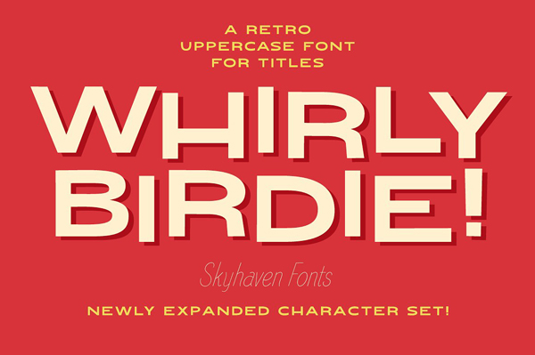Whirly Birdie Free Font