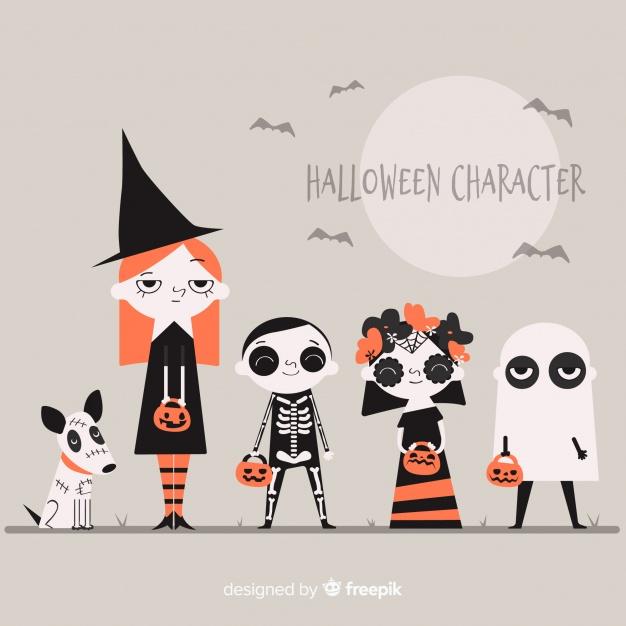 halloween design elements character designs
