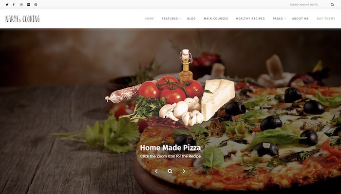 Responsive Food Blog WordPress Themes