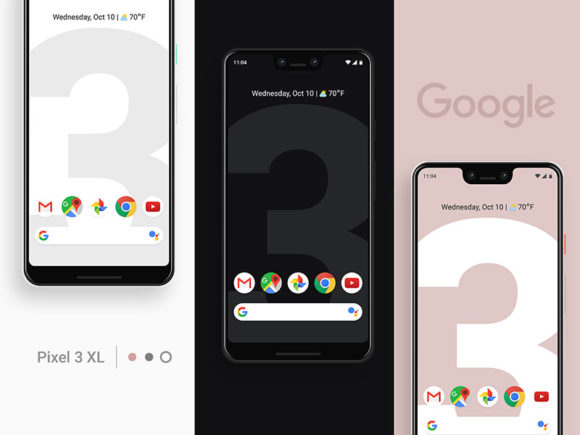 Free Google Pixel 3 mockup for Photoshop
