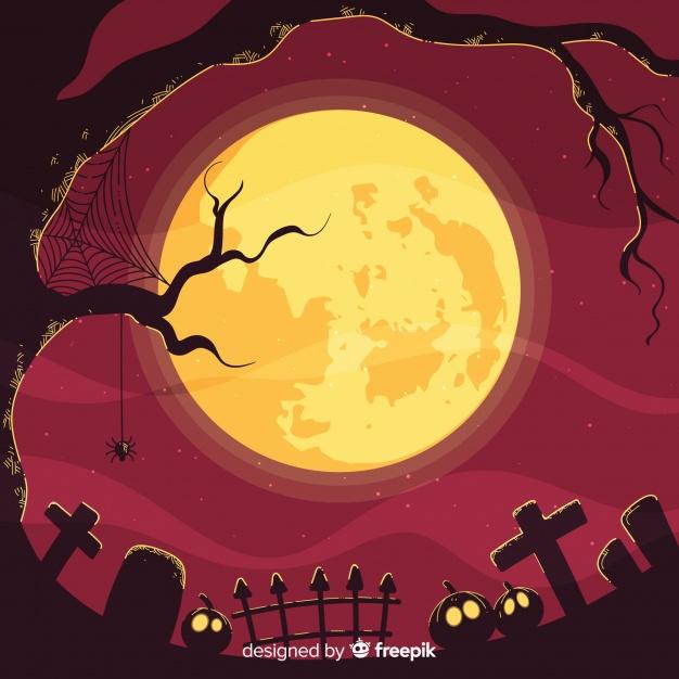 halloween moon background image