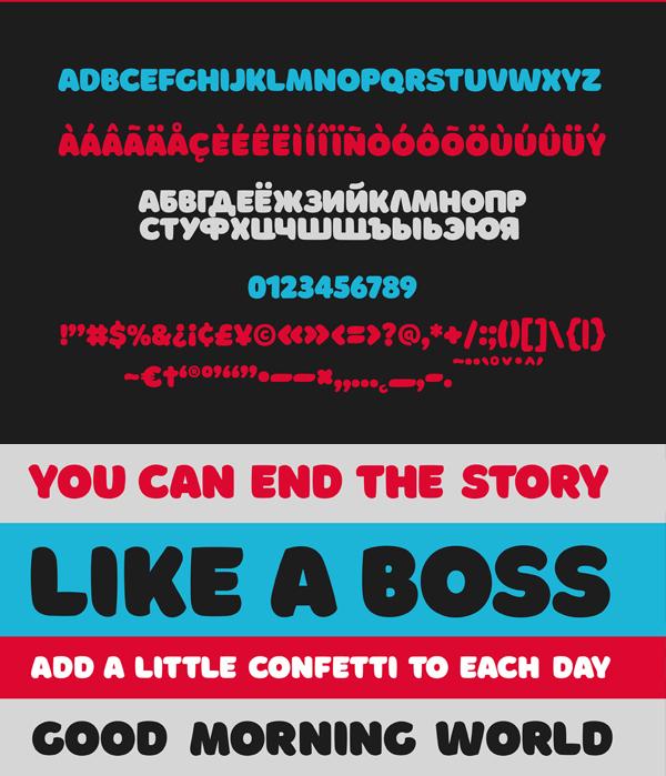 Borsok Font Letters