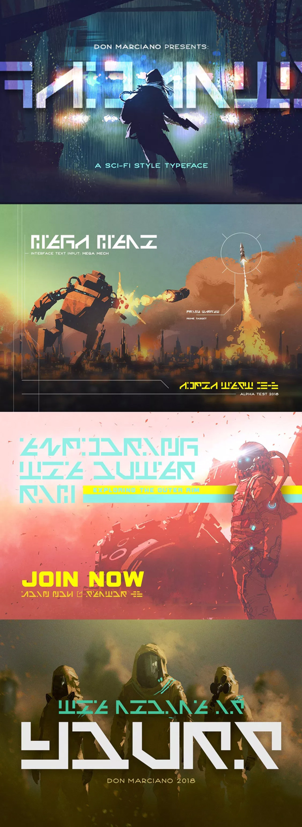 Galactico Sci-fi Free Font