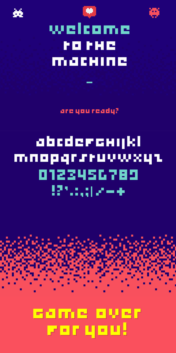 Game Over Font Letters