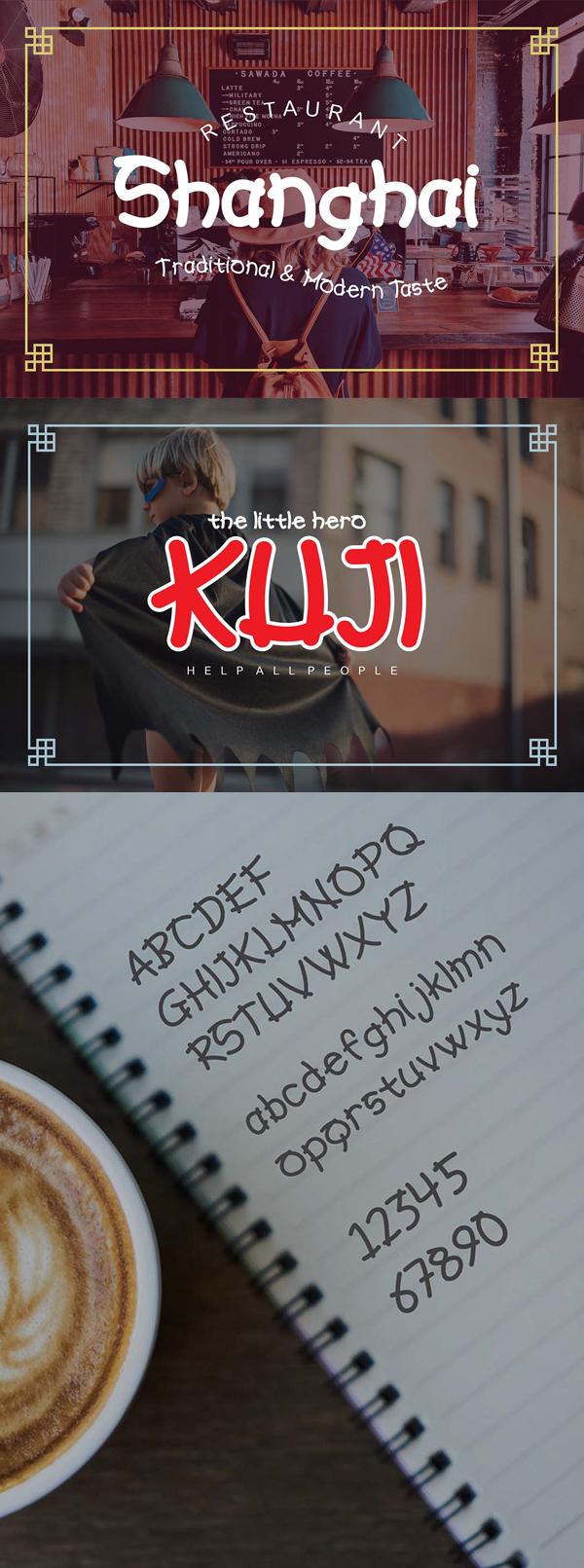 Hiroshio Font Letters