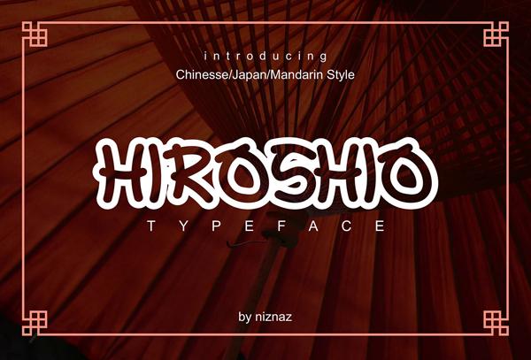 Hiroshio Free Font