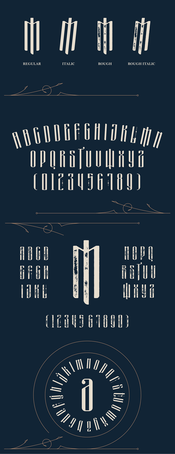 Masquerouge Victorian Style Font Letters