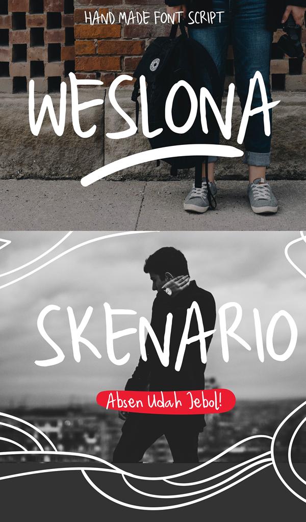 Weslona Free Font