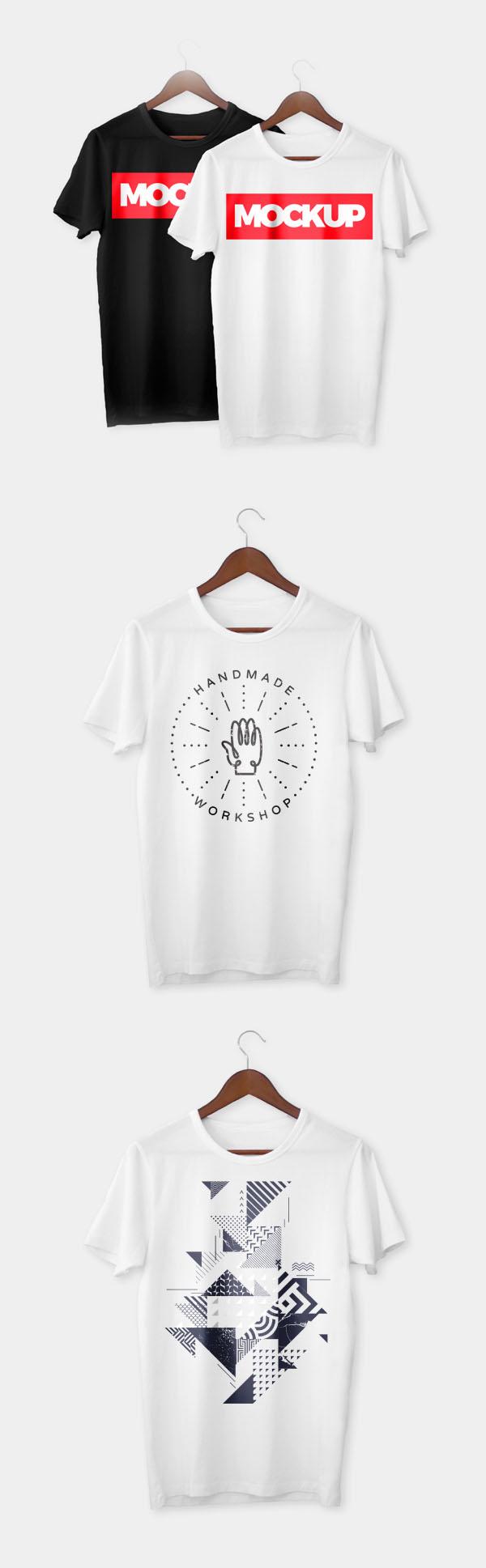 Free Realistic T-Shirt PSD Mockup Templates