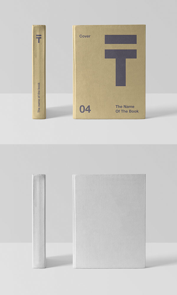 Free Realistic Book Cover Mockup