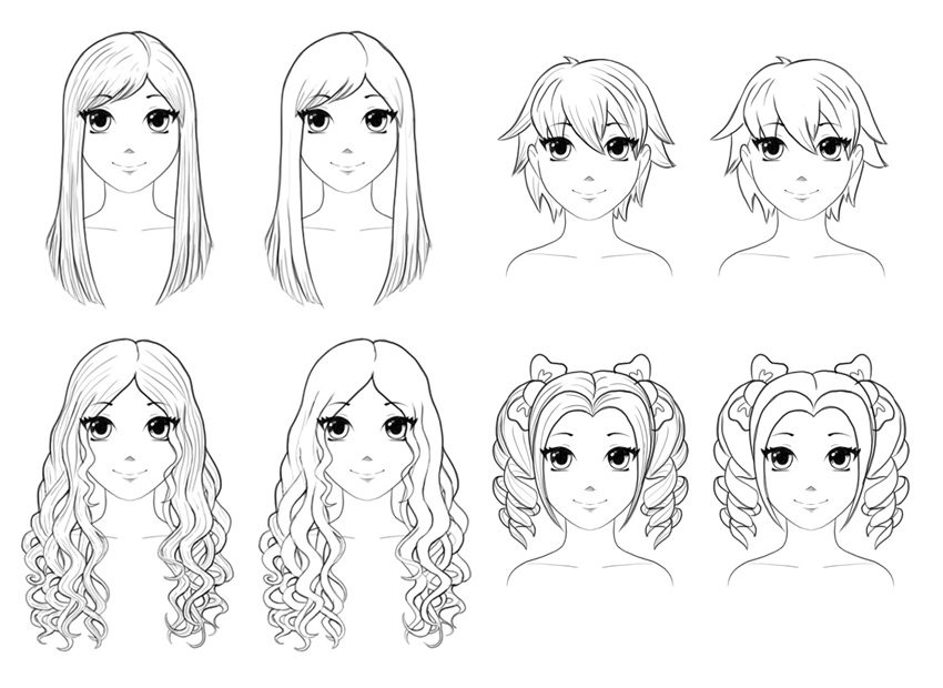 How to Draw Anime Hair - iDevie