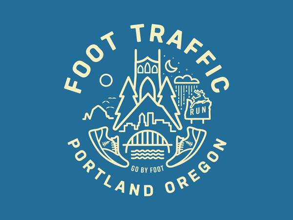 Foot Traffic badge by Johnny Bertram
