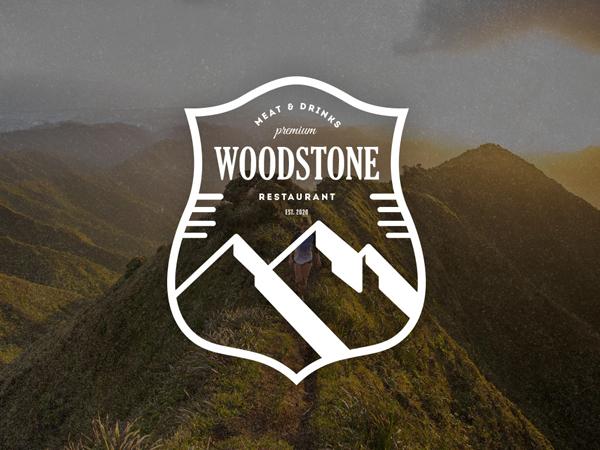 WoodStone Logo / Retro Badge by Design District