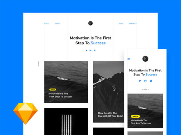 Free portfolio landing design template