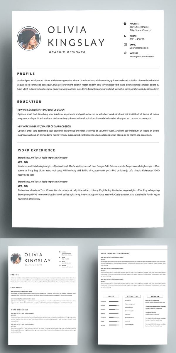 Simple Clean Resume Template