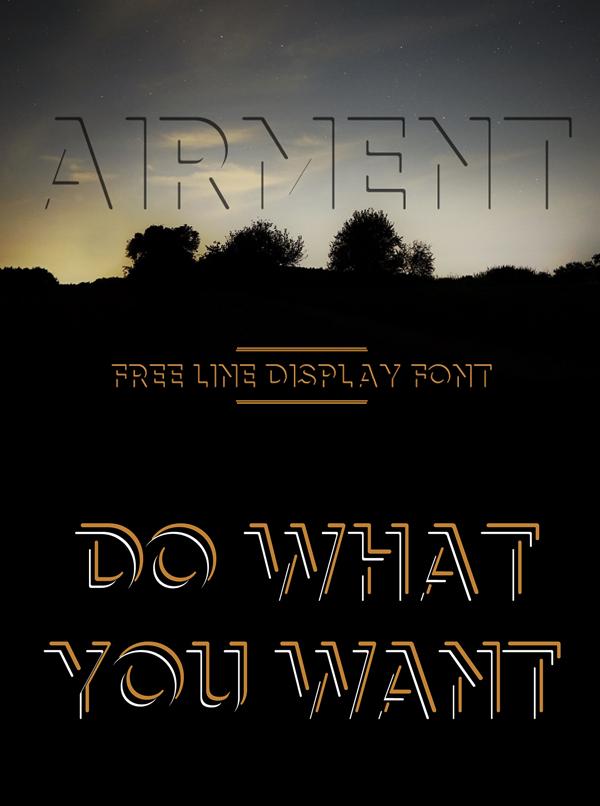 Airment Free Font