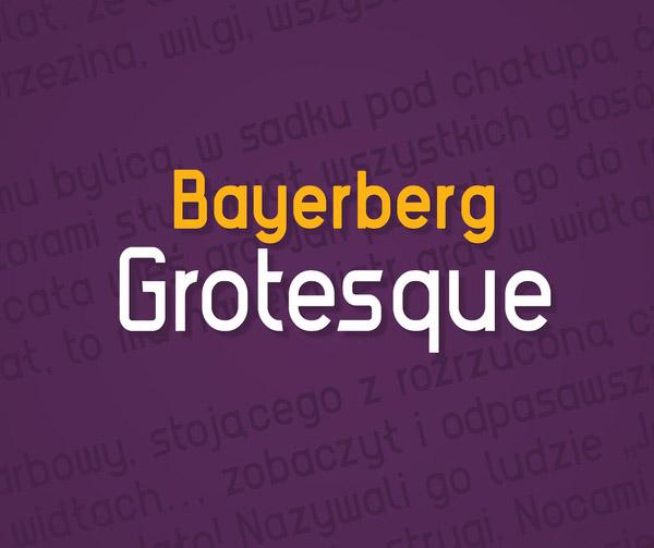 Bayerberg Grotesque Free Font