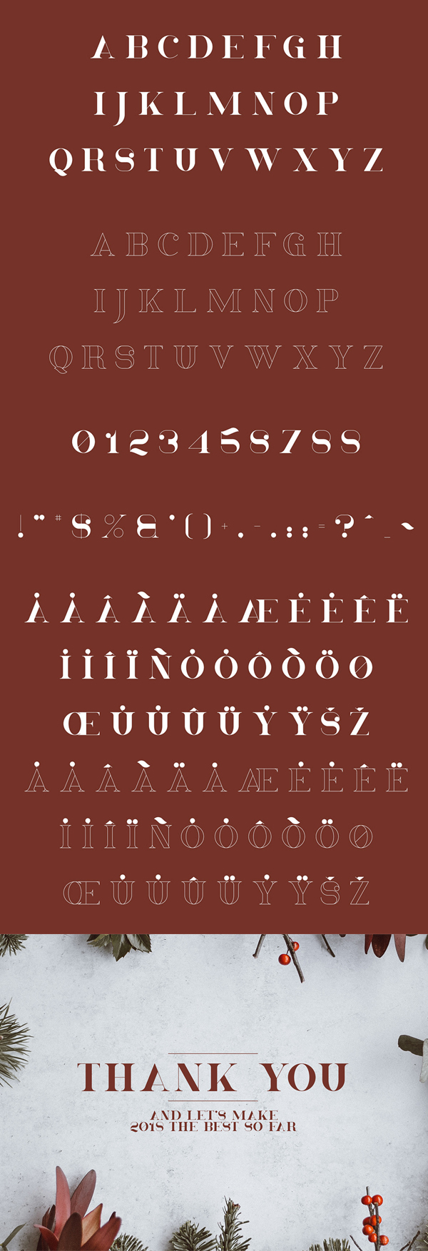 Christmas Serif Font Letters