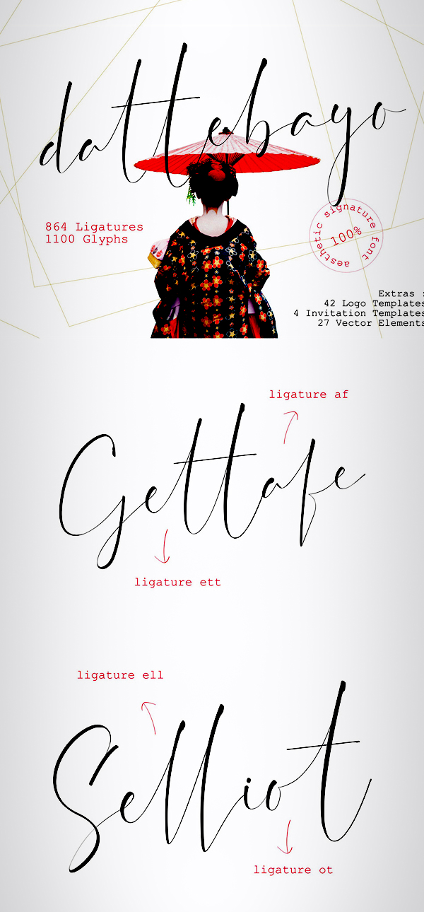 Dattebayo Free Signature Font