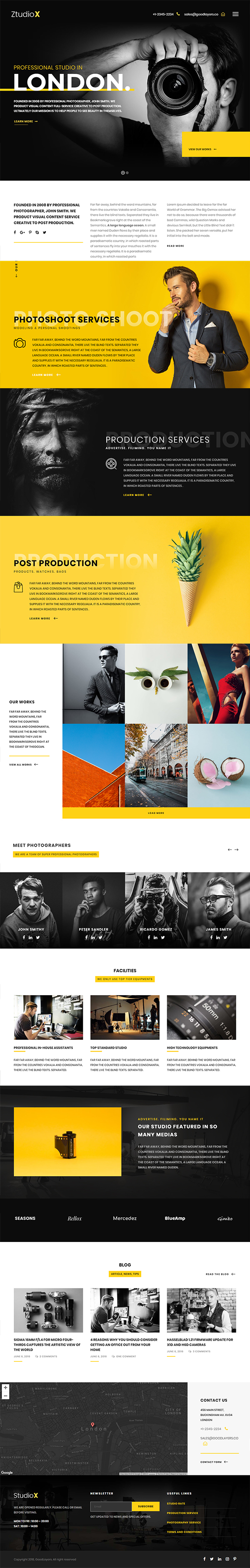Creative Studio Photography WordPress Theme For Photography
