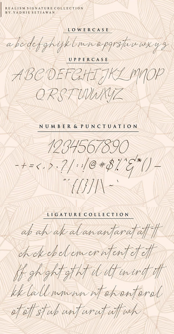 Romantic Couple Signature Font and Letters