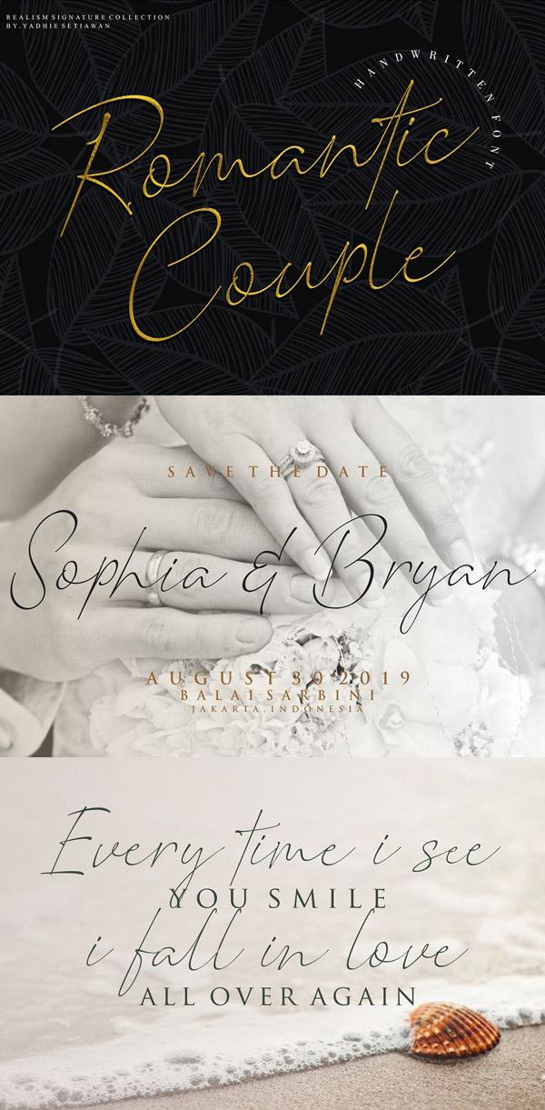 Romantic Couple Signature Free Font