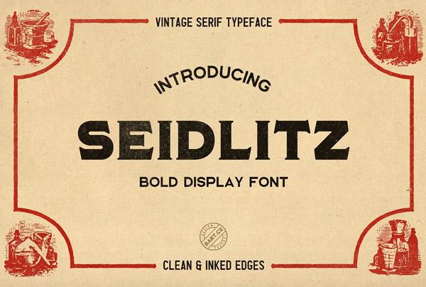 Seidlitz Free Vintage Font