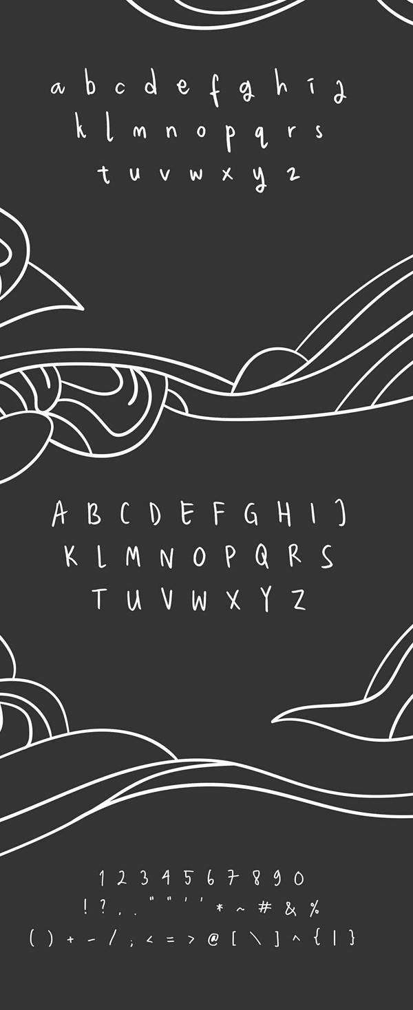 Weslona Brush Font Letters