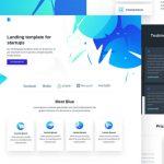 Blue: Elegant free HTML landing template