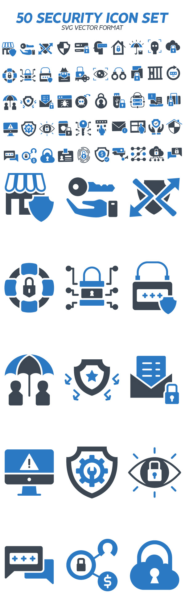 Freebies for 2019: 50 Free Security Vector Icon Set (SVG)