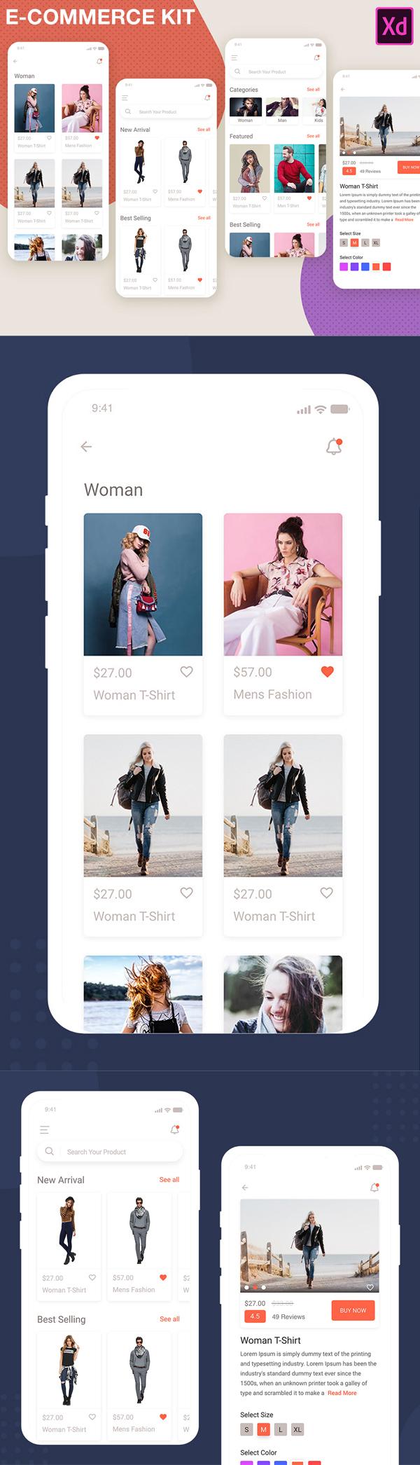 Freebies for 2019: New iOS 12 E-Commerce App UI Kit