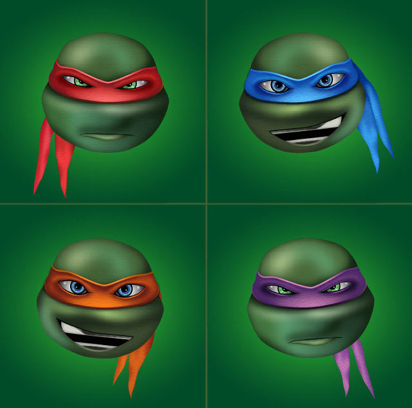 How to Create Four Ninja Turtles Characters in Adobe Illustrator Tutorial