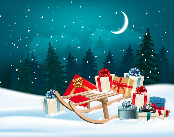 How to Create a Christmas Sleigh Design With Mesh in Adobe Illustrator