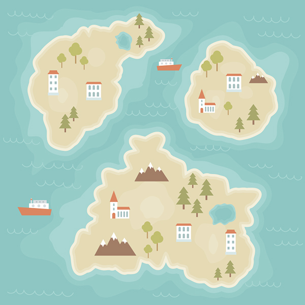 How to Create a Cartoon Map Illustration in Adobe Illustrator