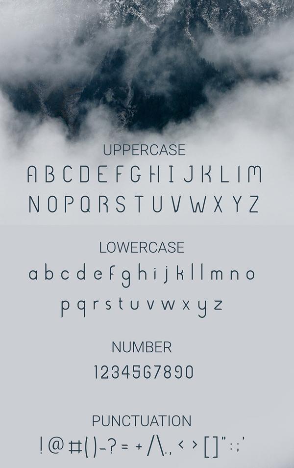 Beway Font Letters