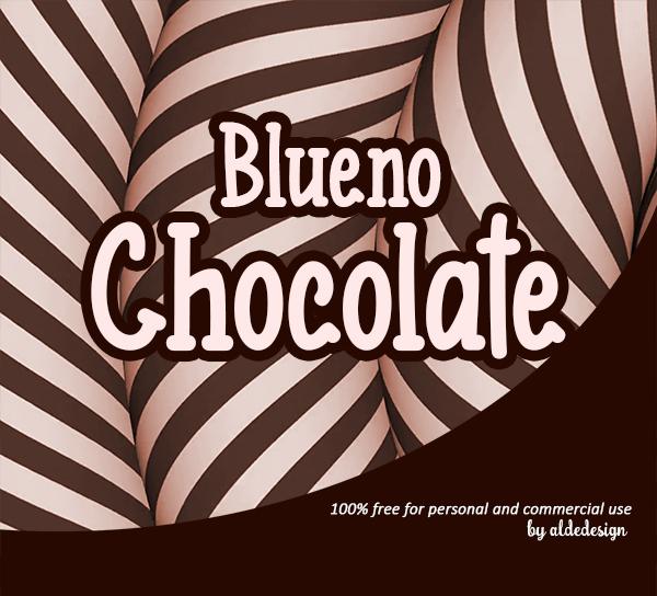 Blueno Chocolate Free Font
