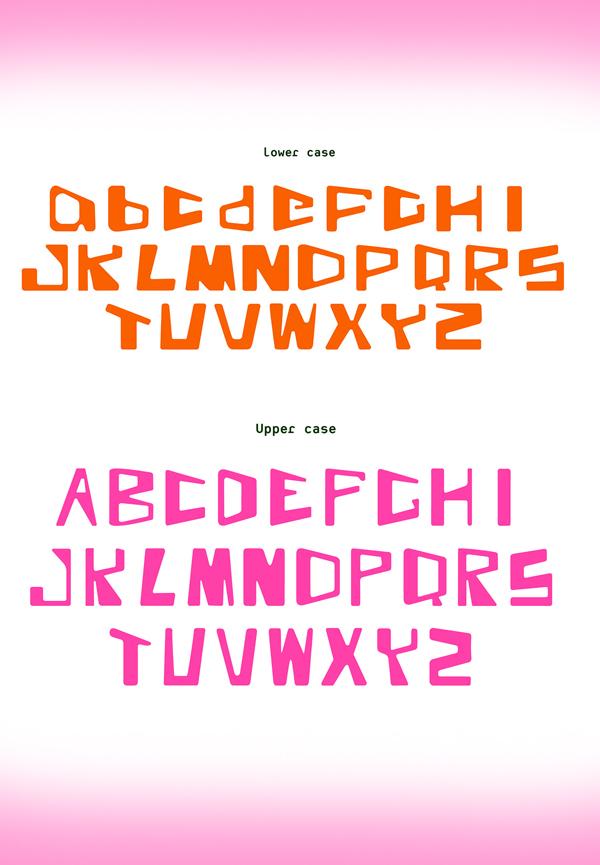 Burle Sans Font Letters