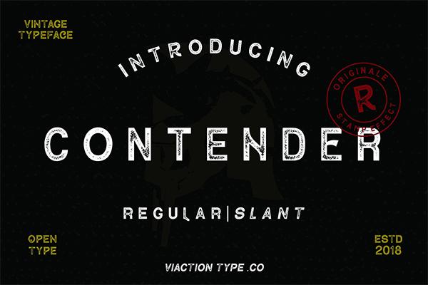 Contender Vintage Free Font