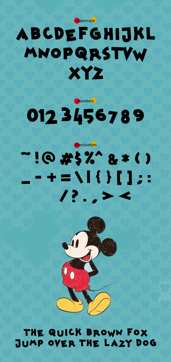 Mickey kw Font Letters