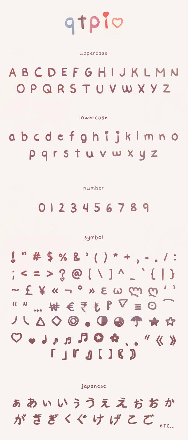 Qtpi Font Letters